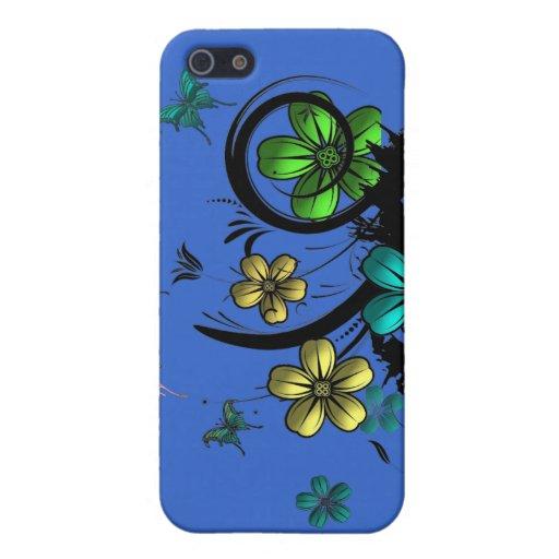 Mariposa de la flor N iPhone 5 Cobertura