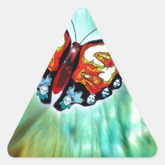 Mariposa de la leyenda cherokee pegatina triangular