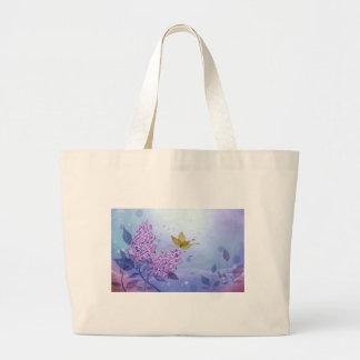 Mariposa de la lila bolsas de mano