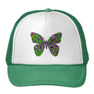 Mariposa de la magenta del verde amarillo del labe gorro