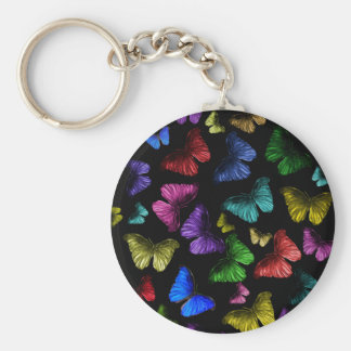 Mariposa de la mariposa llavero redondo tipo pin