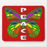 Mariposa de la paz alfombrillas de raton