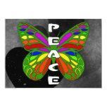 Mariposa de la paz invitación 12,7 x 17,8 cm
