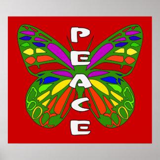 Mariposa de la paz impresiones