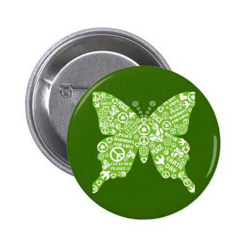 mariposa de la paz pin