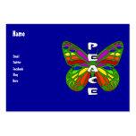 Mariposa de la paz tarjeta de visita