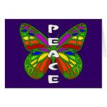 Mariposa de la paz tarjeton