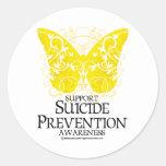 Mariposa de la prevención del suicidio etiqueta
