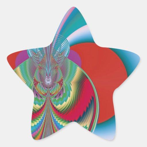 Mariposa de la primavera calcomania forma de estrella personalizada