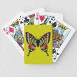 Mariposa de la prisma barajas de cartas