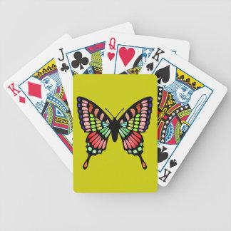 Mariposa de la prisma cartas de juego