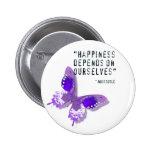 Mariposa de la púrpura de la felicidad pin