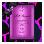 Mariposa de la púrpura del rosa salvaje de Mitzvah Comunicado Personal