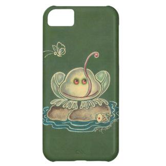 Mariposa de la rana divertida funda para iPhone 5C