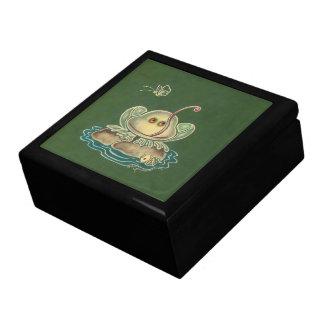 Mariposa de la rana divertida cajas de joyas
