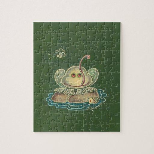 Mariposa de la rana divertida puzzles