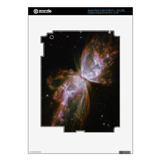 Mariposa de la supernova iPad 3 pegatinas skins