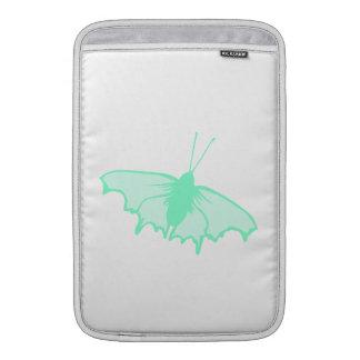 Mariposa de la verde menta funda  MacBook