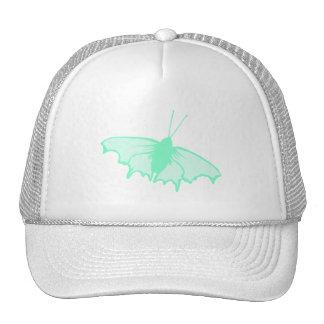 Mariposa de la verde menta gorras de camionero