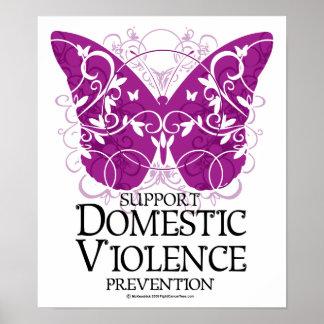 Mariposa de la violencia en el hogar posters