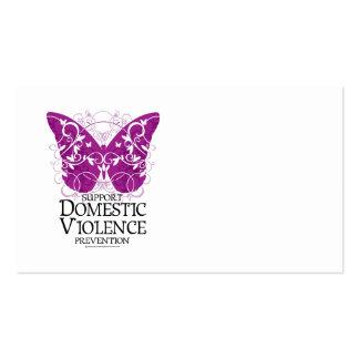 Mariposa de la violencia en el hogar tarjetas de visita