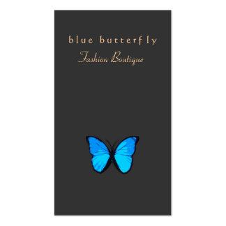 Mariposa de las azules turquesas del boutique de l tarjeta de visita