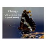 Mariposa de las postales de motivación del cambio