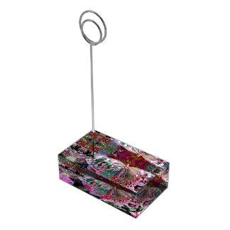 Mariposa de levantamiento del amanecer soportes para tarjetas de mesa
