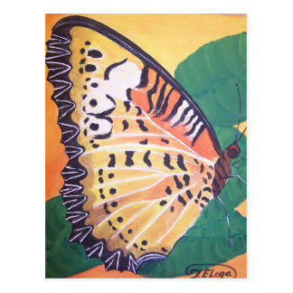 Mariposa de los Lacewings - pintura de acrílico Tarjeta Postal