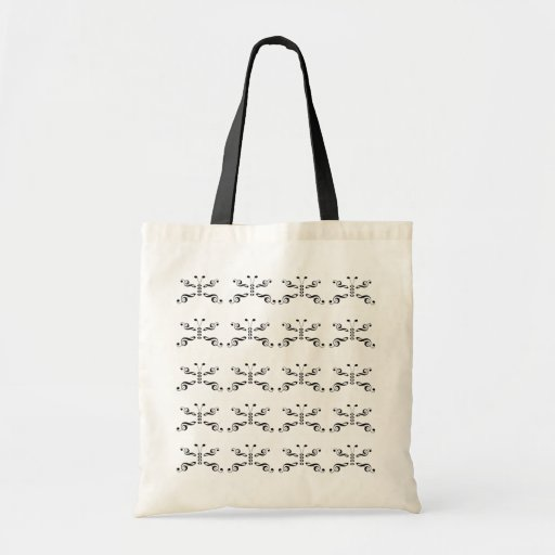 Mariposa de los símbolos de música bolsa de mano