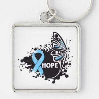 Mariposa de Lymphedema de la esperanza Llaveros Personalizados