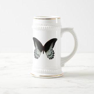 Mariposa de mármol de Swallowtail Jarra De Cerveza