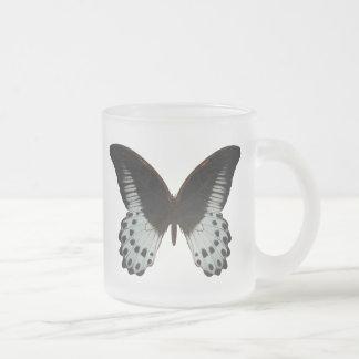 Mariposa de mármol de Swallowtail Taza De Cristal