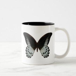 Mariposa de mármol de Swallowtail Taza De Dos Tonos