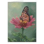 Mariposa de monarca 0465 en tarjeta de cumpleaños