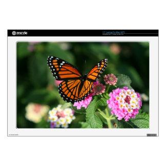 """Mariposa de monarca 17"""" ordenador portátil para el portátil calcomanías"""