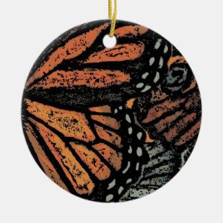 Mariposa de monarca abstracta adornos de navidad