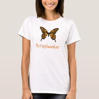 Mariposa de monarca anaranjada y negra, playera