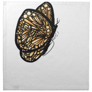 Mariposa de monarca, apenas aterrizada servilletas de papel