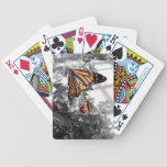 Mariposa de monarca baraja cartas de poker