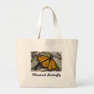 Mariposa de monarca bolsa tela grande