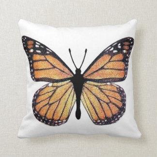 Mariposa de monarca bonita cojin