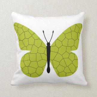 Mariposa de monarca bonita del oro cojines