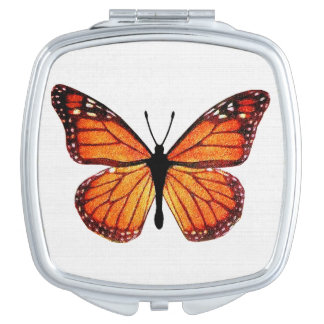 Mariposa de monarca bonita espejo de maquillaje