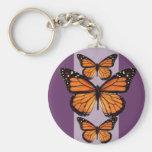 Mariposa de monarca bonita llavero