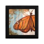 Mariposa de monarca cajas de recuerdo