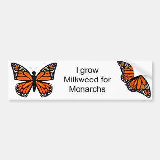 Mariposa de monarca pegatina de parachoque