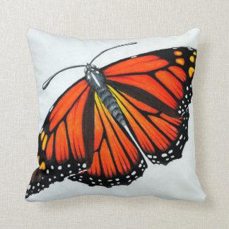 Mariposa de monarca almohada