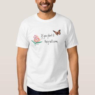 Mariposa de monarca con el Milkweed Playeras