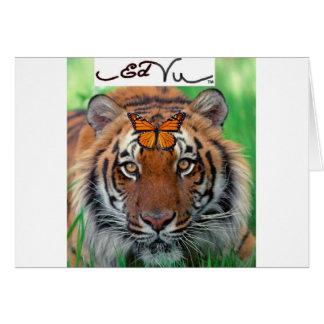 Mariposa de monarca del tigre de Ed Vu Tarjeta